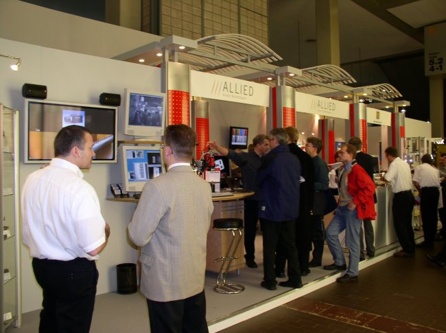 AVT's booth at VISION 2002 show in Stuttgart, Germany